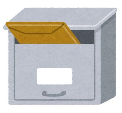 メール便が郵便受けに入っている図