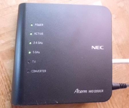 Wi-fiルーターの例